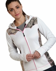 Roper Women's Rangewear Hooded Winter Camo Jacket - White (Closeout)