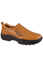 Roper Women's Sport Slip On Shoes - Tan Ostrich