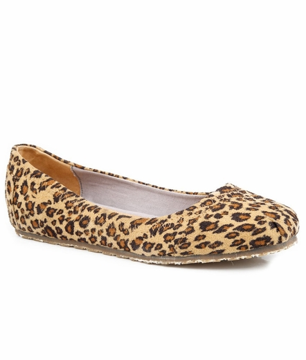 Roper Womens Cheetah Print Ballerina Shoes (Closeout)