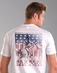 "Rough Stock Men's Short Sleeve ""American Flag"" Tee Shirt - White (Closeout)"