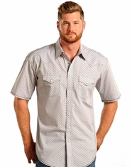 Rough Stock Men's SS Print Snap Shirt - Grey (Closeout)
