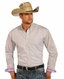 Rough Stock Mens Long Sleeve Print Button Down Western Shirt - Baby Pink (Closeout)
