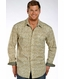 Rough Stock Mens Long Sleeve Print Snap Western Shirt (Closeout)
