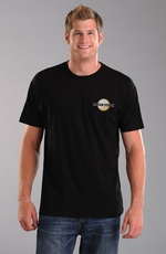 Rough Stock Mens Short Sleeve Elk Brew Tee Shirt - Black
