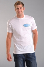 "Rough Stock Mens Short Sleeve ""Gone Fishin"" Tee Shirt - White (Closeout)"