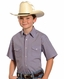Rough Stock Short Sleeve Snap Western Shirt - Blue (Closeout)