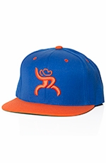 HOOey Roughy Mens Rebel Hat - Royal Blue/Orange