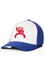 HOOey Roughy Mens Spur Hat - Royal Blue/White