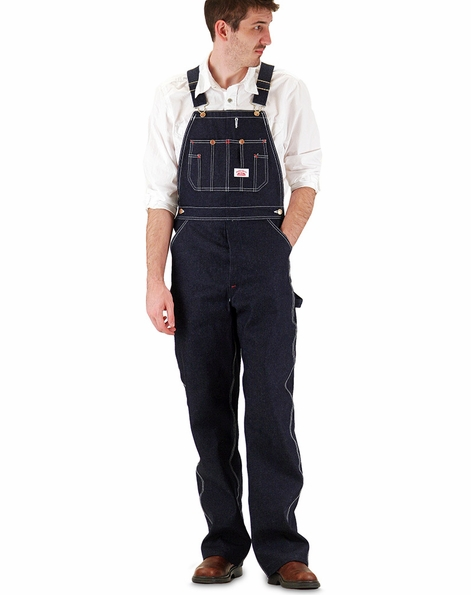 Round House Blue Denim Bib Overall (Zipper Fly ) - Made In the USA