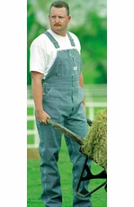 Round House Hickory Stripe Overall-Made In the USA