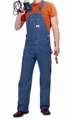 Round House Stonewash Denim Bib Overall (Zipper Fly ) - Made In the USA