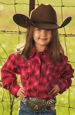 Sherry Cervi Girls Diamond Dobby Shirt - Raspberry (Closeout)