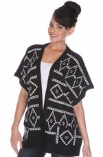 Sisters Womens Southwest Cardigan - Black