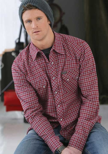 Southern Thread Men's Long Sleeve Plaid Snap Western Shirt - Red (Closeout)
