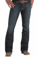 Southern Thread Mens Beckett Jeans - Dark Stonewash