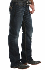 Southern Thread Mens Owen Relaxed Fit Jeans - Dark Stonewash