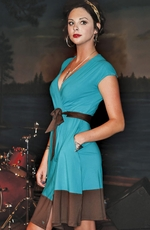Southern Thread Womens Wrap Dress - Teal