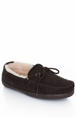 Staheekum Men's Sheepskin Lined Moccasins - Chocolate or Wheat (Closeout)