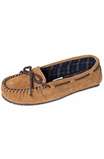 Staheekum Womens Comfy Flannel Lined Moccasins - Tan (Closeout)