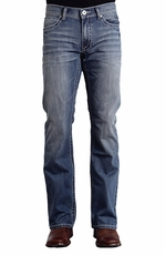 Stetson Men's 1014 Fit Jeans with W Stitching - Medium Wash