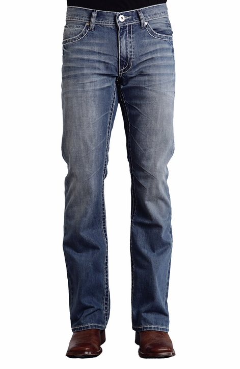 Stetson Men's 1014 Fit Jeans with W Stitching - Medium Wash (Closeout)