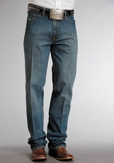 Stetson Men's 1520 Relaxed Fit Straight Leg Jeans - Distressed Stone (Closeout)