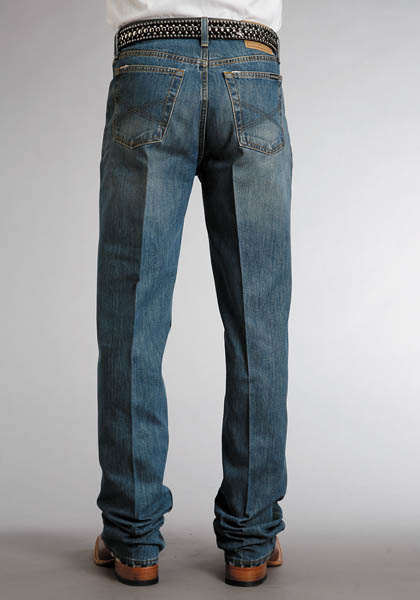 Stetson Men's 1520 Relaxed Fit Straight Leg Jeans - Distressed Stone