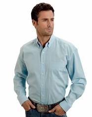 Stetson Men's Long Sleeve Print Button Down Shirt - Blue