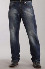 Stetson Mens 1520 Standard Straight Leg Jeans - Dark Navy (Closeout)