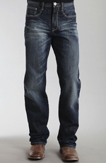 Stetson Mens Boot Cut Relaxed Fit Jeans