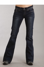 Stetson Women's 816 Classic Boot Cut Jeans - Dark Navy
