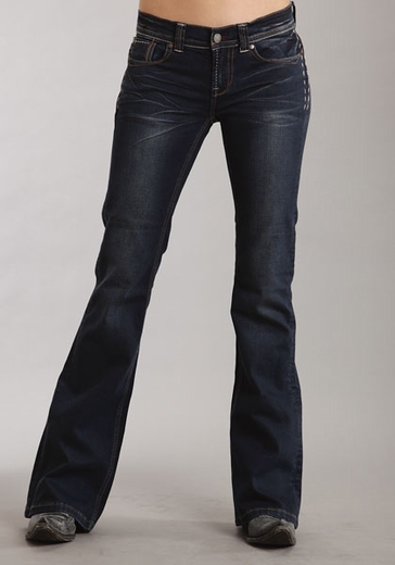 Stetson Women's 816 Classic Boot Cut Jeans - Dark Navy (Closeout)