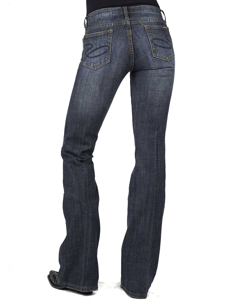 Stetson Women's 816 Stretch Denim Classic Boot Cut Jeans - Dark Wash