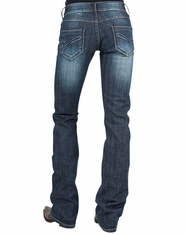 Stetson Women's 818 Slim Fit Boot Cut Jeans - Dark Wash