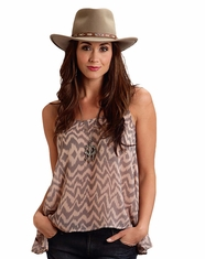 Stetson Women's Sleeveless Chiffon Top - Grey (Closeout)