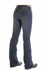 Stetson Womens 816 Slim Fit Classic Boot Cut Jeans - Blue (Closeout)