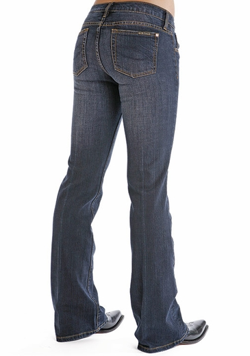 Stetson Womens 816 Slim Fit Classic Boot Cut Jeans - Blue