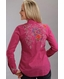 Stetson Womens Long Sleeve Embroidered Snap Western Shirt - Pink (Closeout)