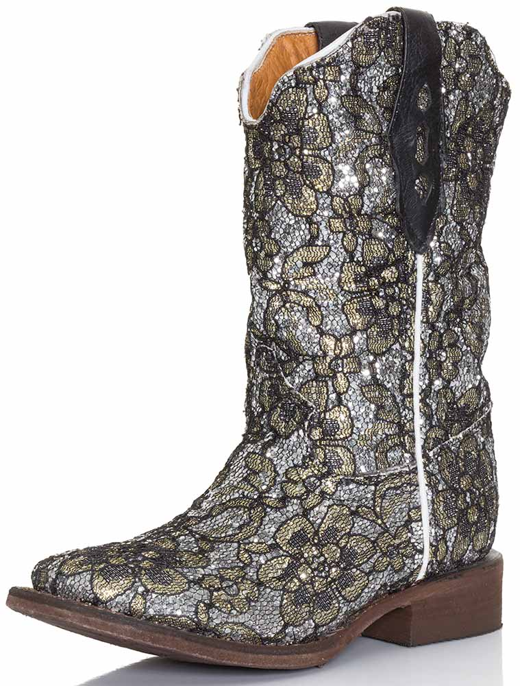Tanner Mark Kids Flower Cowboy Boots (Closeout)