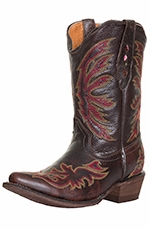 Tanner Mark Kids Rea Stitch Western Boots