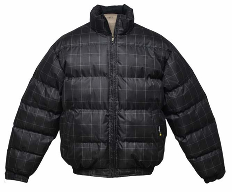 Tempco Men's Check Print Bubble Jacket - 2 Colors (Closeout)