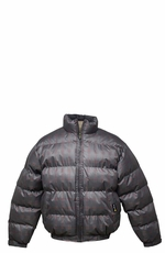 Tempco Men's Check Print Bubble Jacket - Taupe (Closeout)