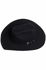 Texas Hat Kids 3X Felt Ponderosa - Black