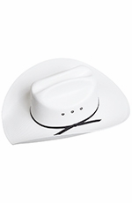 Texas Hat Kids Canvas Cowboy Hat - White