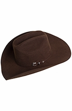 Texas Hat Mens 3X Felt Ponderosa - Chocolate