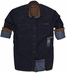Third & Army Mens Long Sleeve Derrick Shirt - Indigo (Closeout)