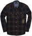 Third & Army Mens Long Sleeve Drifter Western Shirt - Indigo (Closeout)
