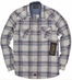 Third & Army Mens Long Sleeve Drifter Plaid Western Shirt - Ivory
