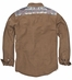 Third & Army Mens Myah Long Sleeve Button Down Western Shirt - Camel
