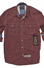Third & Army Mens Long Sleeve Yonder Western Check Shirt